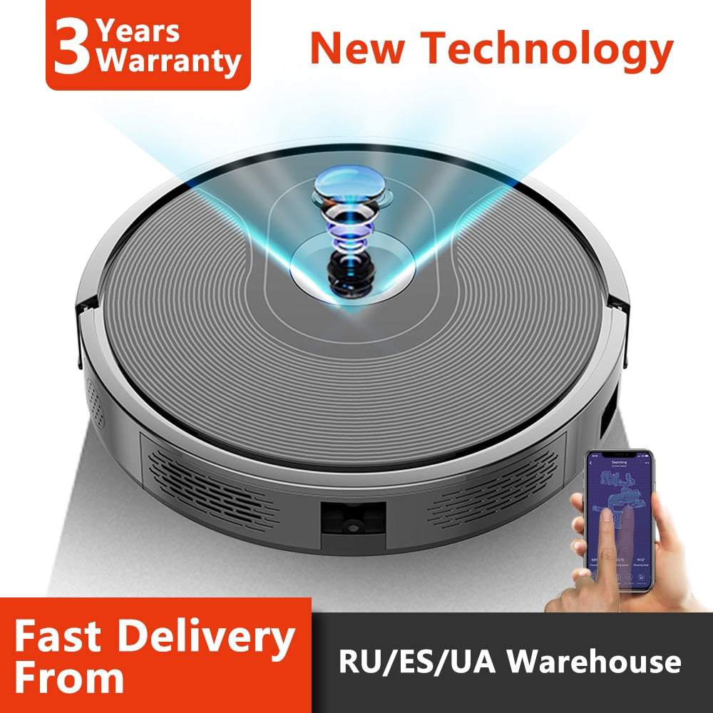 Robot Vacuum Cleaner with Camera Navigation