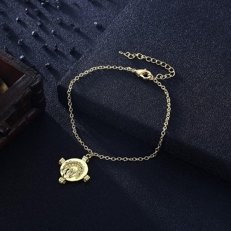 Greek Coin Cross Bracelet in 18K Gold Plated