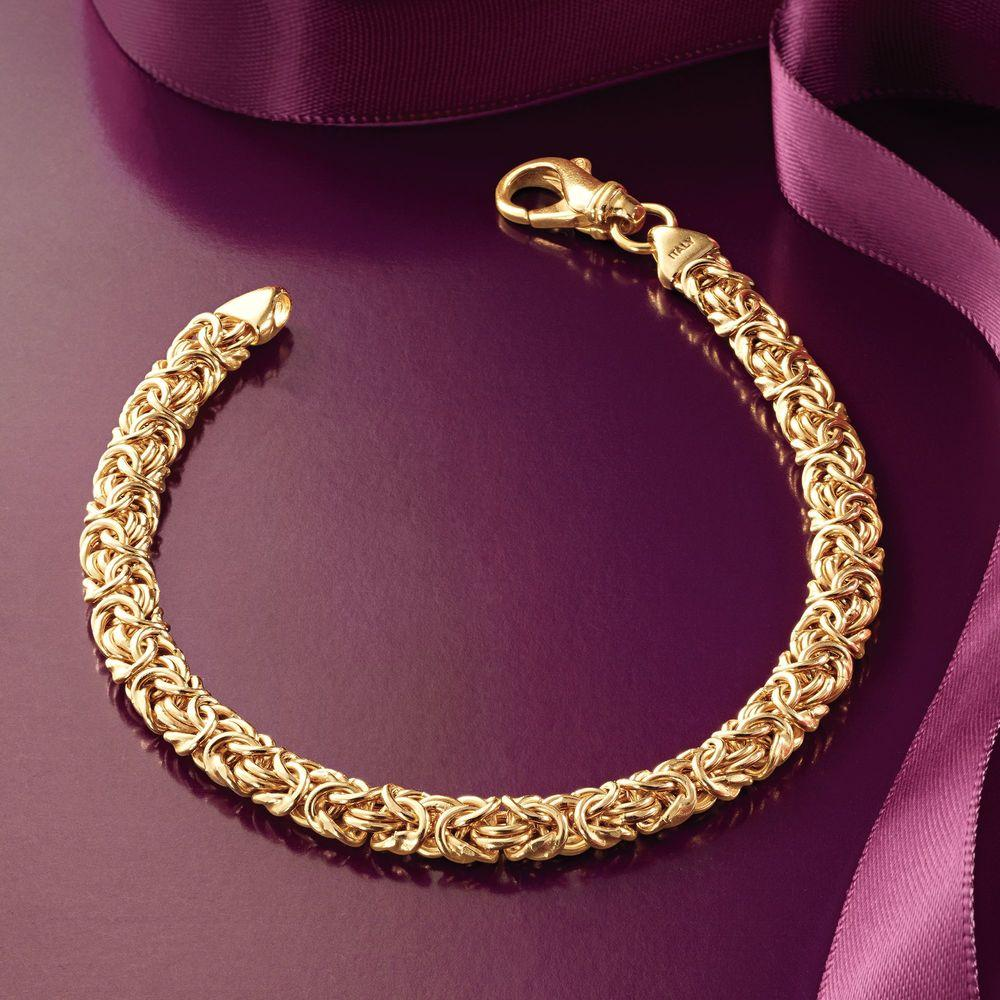 Byzantine Chain Bracelet in 18K Gold Plated