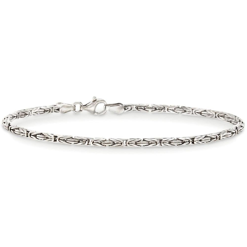 Byzantine Chain Bracelet in 18K White Gold Plated