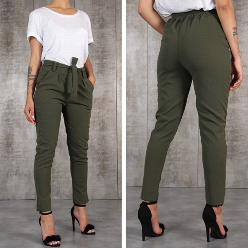 Women Casual Slim Chiffon Thin Pants