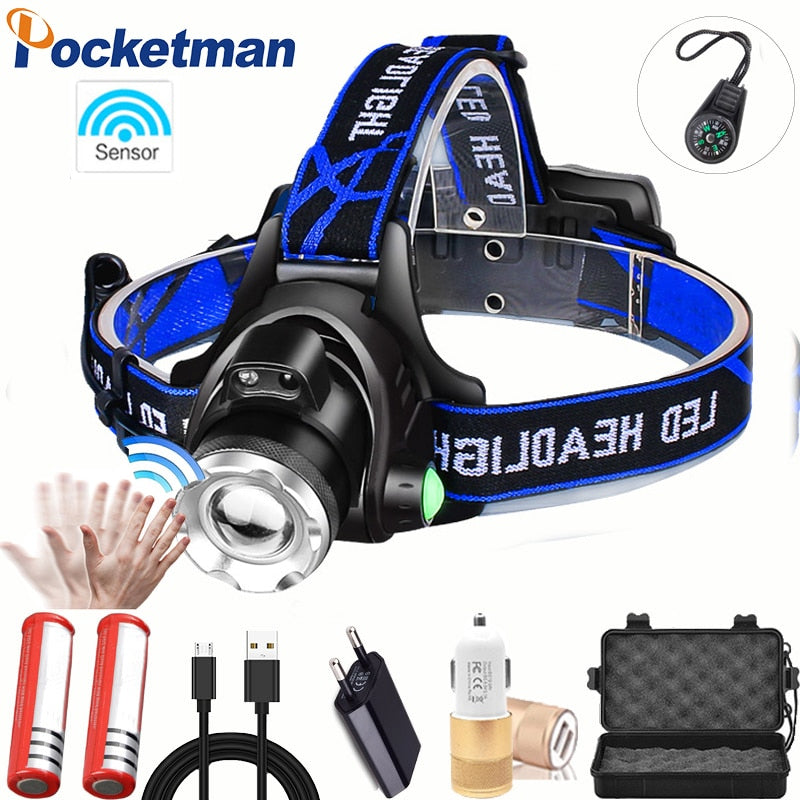 Waterproof Head Torch flashlight for fishing - Most Powerful  LED