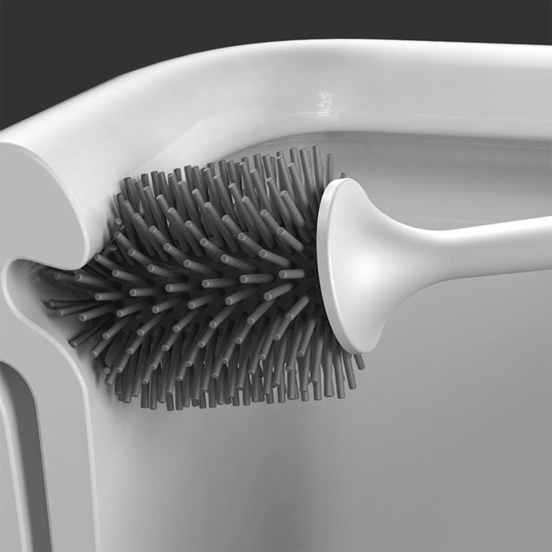 Rubber head frame cleaning brush