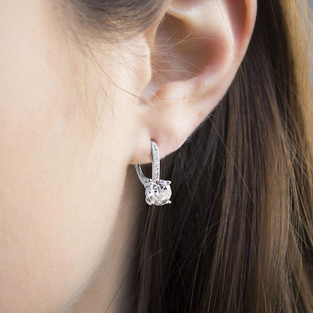 Leverback Earrings in 14K White Gold