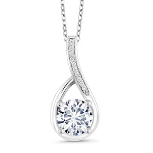 Swarovski Crystals Classic Diamond Created Teardrop  Necklace