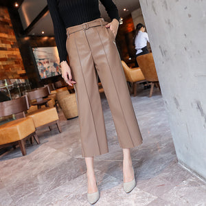 Faux Leather Ladies Trousers