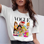 Women's Summer Graphic Funny Princess Vogue Tee Shirt