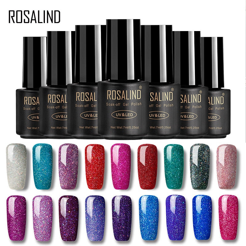ROSALIND Gel Nail Polish All For Manicure Set 7ML Semi Permanent Vernis UV Top Coat Poly Gel Varnish Hybrid Gel Nail Polish