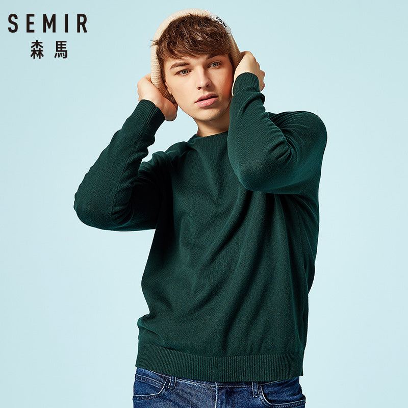 SEMIR Wool Sweater for Men - Cashmere Sweater