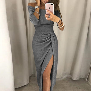 VIEUNSTA Sexy Off Shoulder Party Dress