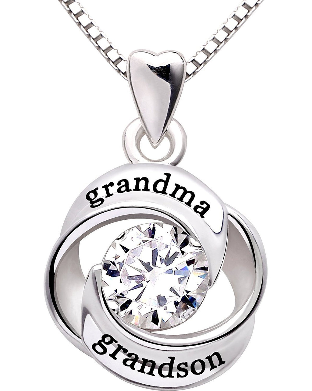 """GRANDMA GRANDSON"" Heart Necklace"