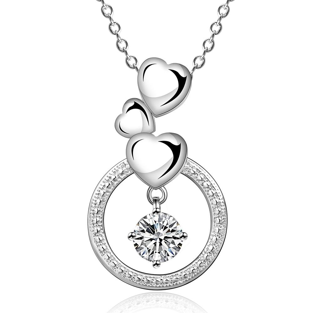 Dangling Hearts Swarovski Pendant Necklace
