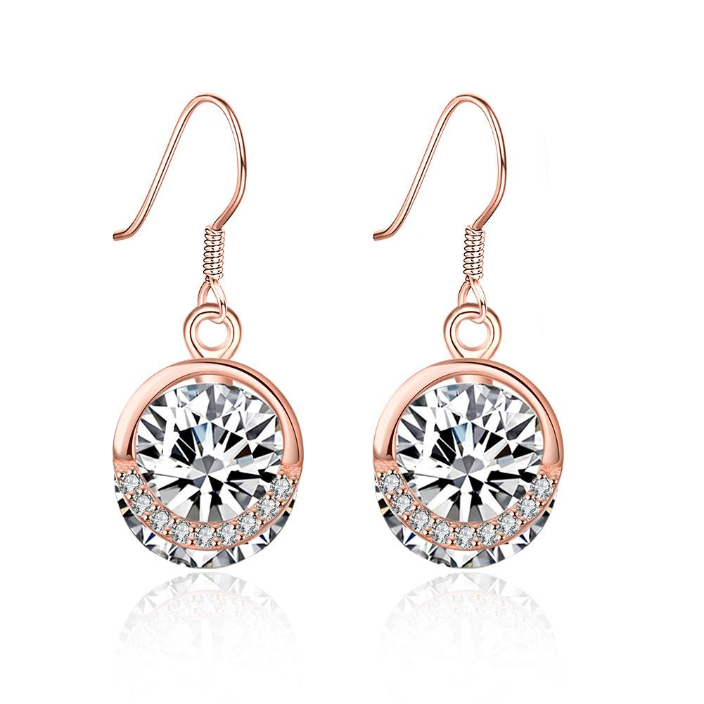 Sterling Silver Solitaire Swarovski Drop Earrings