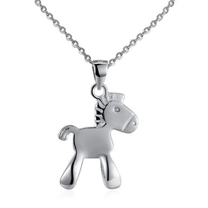 Sterling Silver Pony Necklace