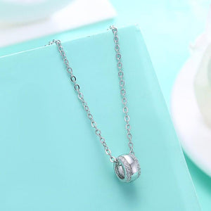 Swarovski Crystal 18K White Gold over Sterling Silver Pave Ball Necklace