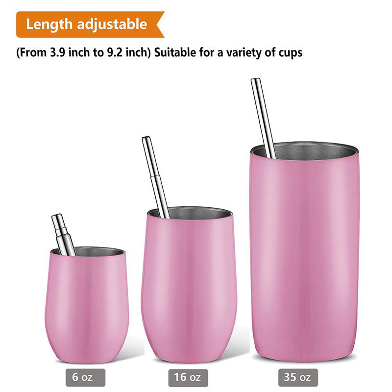 Metal Drinking Straw With Brush