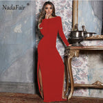Nadafair Backless Sexy Party Dress