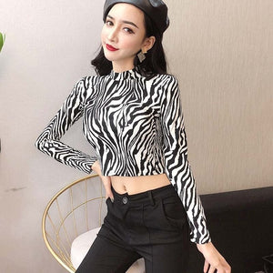 Sexy Zebra Leopard Animal Print Shirts