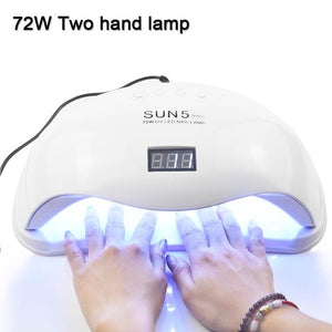 72W SUN5 Pro UV Lamp LED Nail Lamp Smart For Manicure