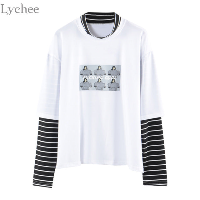 Lychee L/Sleeve Printed T-Shirt