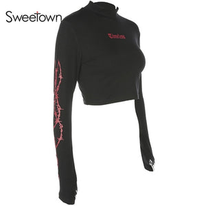 Sweetown Sexy Cropped T Shirt
