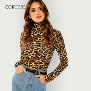 COLROVIE Leopard Print T Shirt
