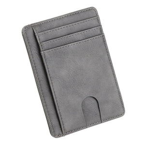 THINKTHENDO Leather Wallet Credit ID Card Holder