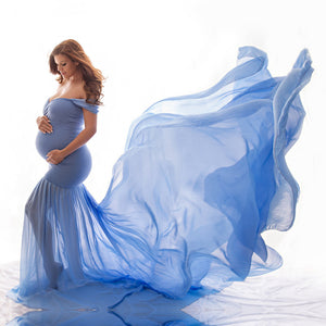 Maternity Off Shoulder Half Circle Gown - BuyBest