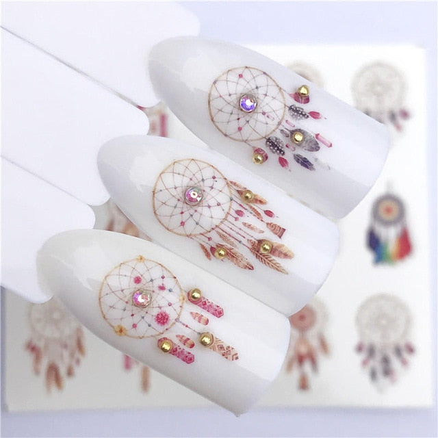 Nail Water Decals Cute Cat Pattern Tranfer Sticker