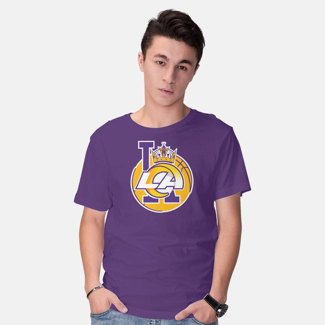 Los Angeles Logo Mashup-mens basic tee-RivalTees
