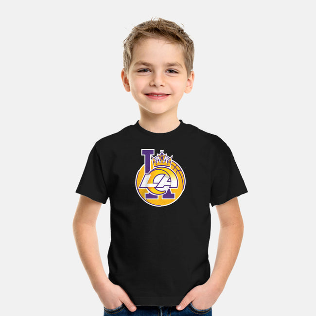 Los Angeles Logo Mashup-youth basic tee-RivalTees