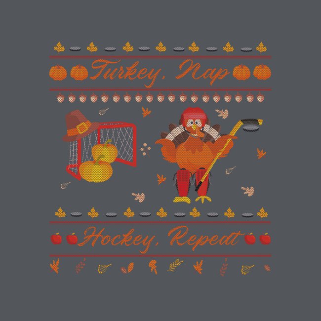 Turkey, Nap, Hockey, Repeat-womens fitted tee-RivalTees