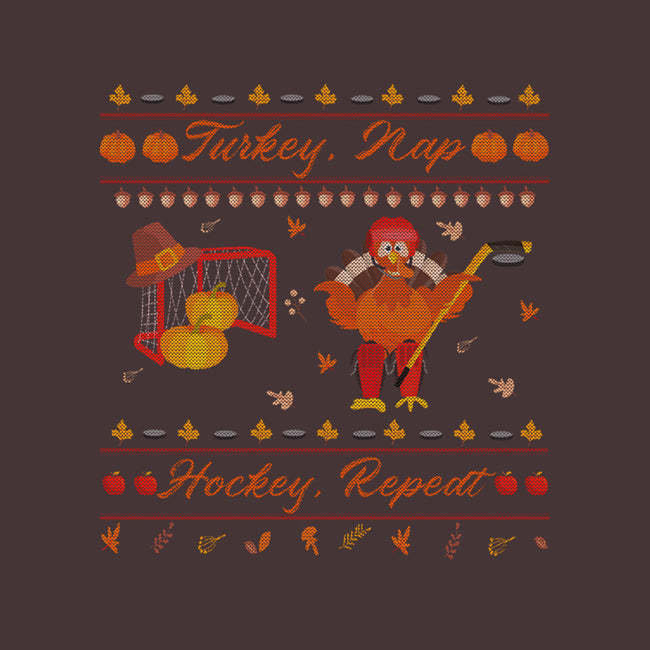 Turkey, Nap, Hockey, Repeat-unisex basic tank-RivalTees