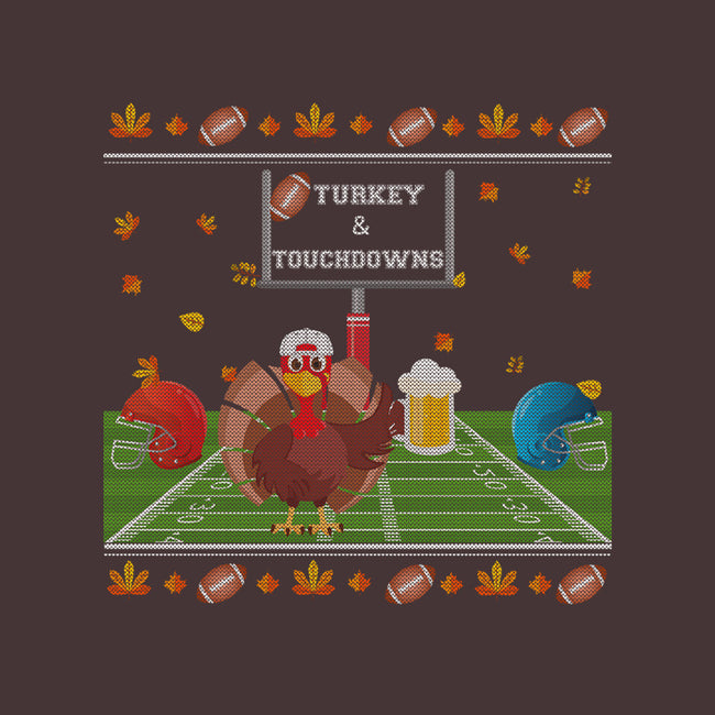 Turkey and Touchdowns-womens basic tee-RivalTees