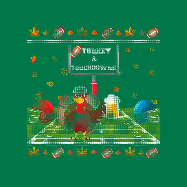 Turkey and Touchdowns-mens basic tee-RivalTees