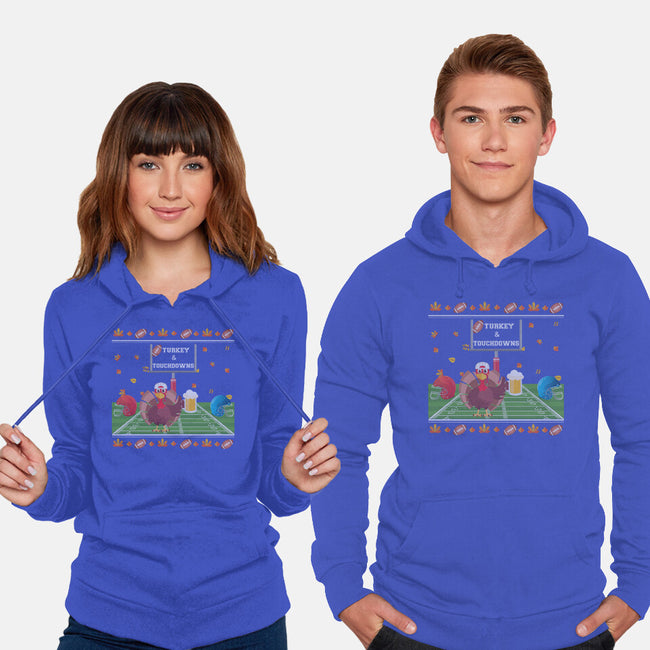Turkey and Touchdowns-unisex pullover sweatshirt-RivalTees