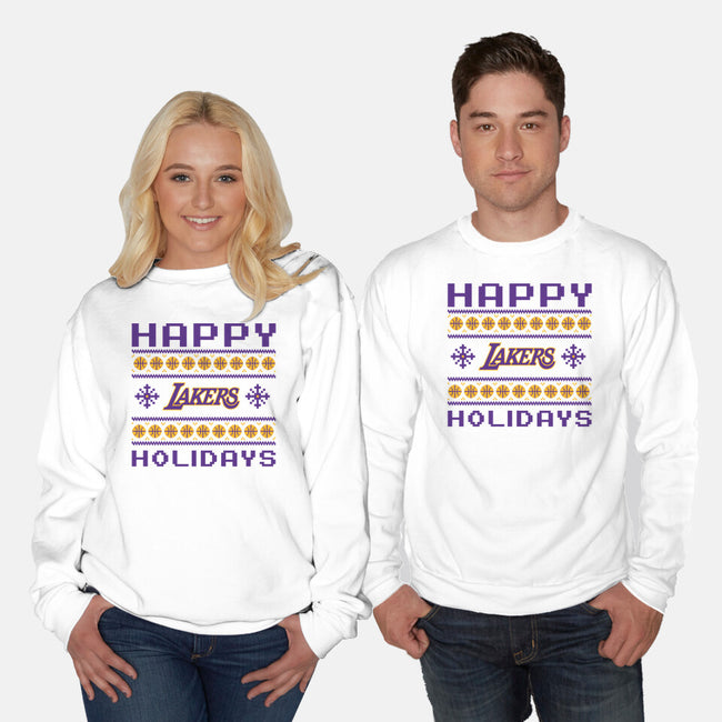 Happy Holidays-unisex crew neck sweatshirt-RivalTees