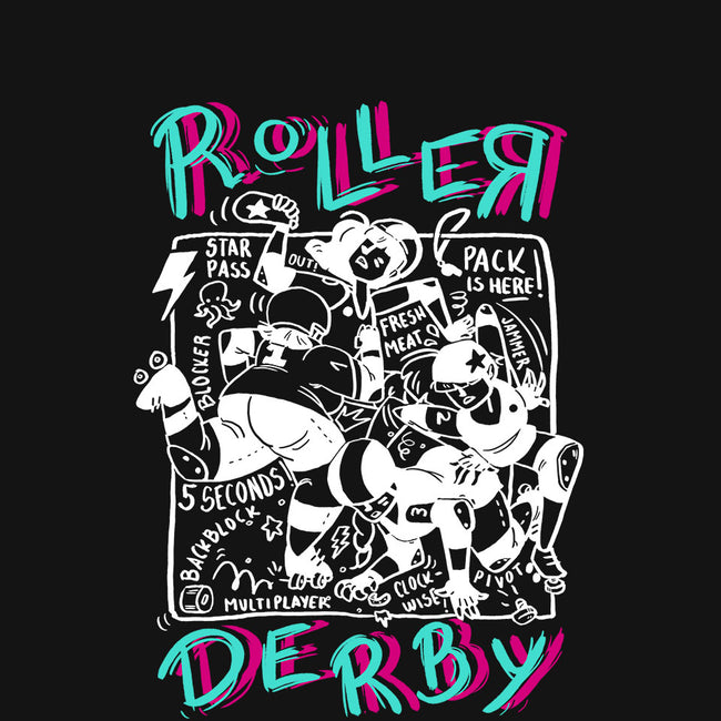 Roller Derby Chaos-womens fitted tee-theteenosaur