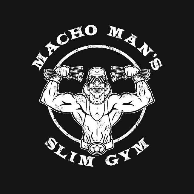Macho Man's Slim Gym-womens fitted tee-krusemark