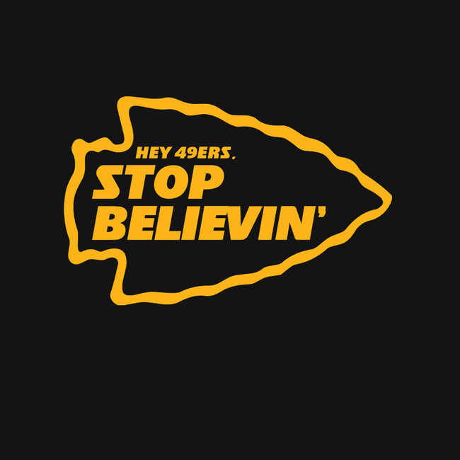 Stop Believin-womens basic tee-RivalTees