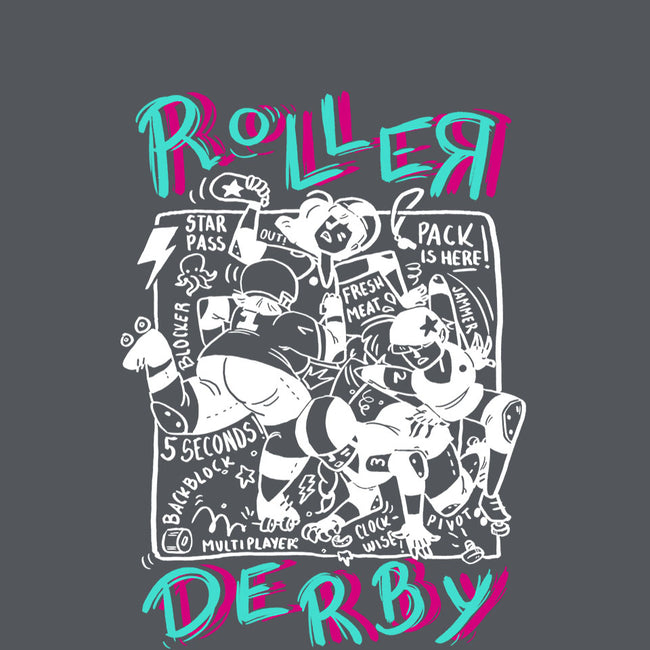 Roller Derby Chaos-youth basic tee-theteenosaur