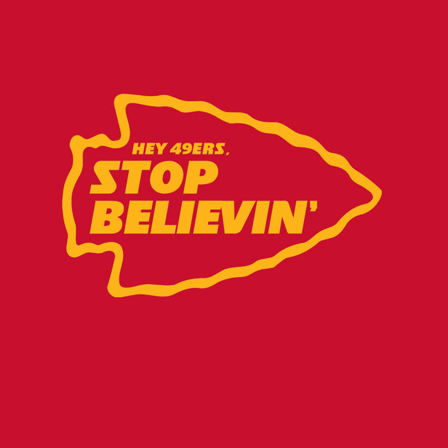 Stop Believin-youth basic tee-RivalTees