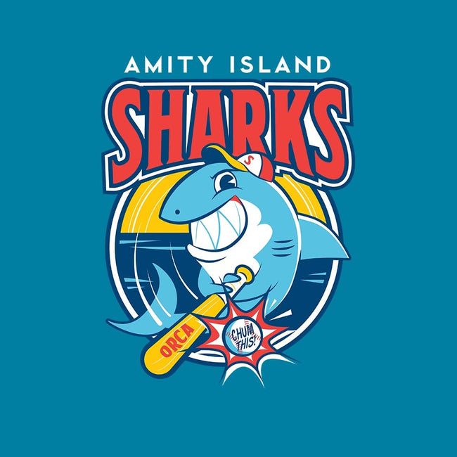 Amity Island Sharks-mens long sleeved tee-Dave Perillo