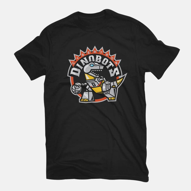 Dino Basketball-womens fitted tee-Oktobear