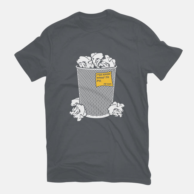 Trash Can Tradition-womens fitted tee-christopher perkins