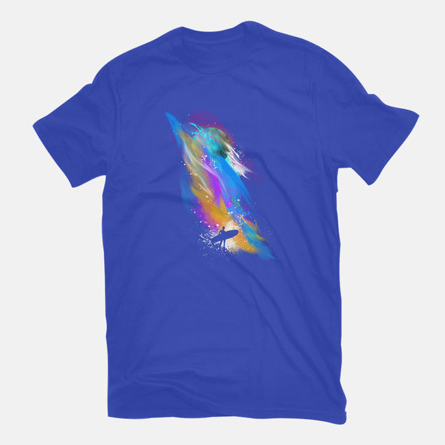 Space Surfin'-mens basic tee-Frederic Levy-Hadida