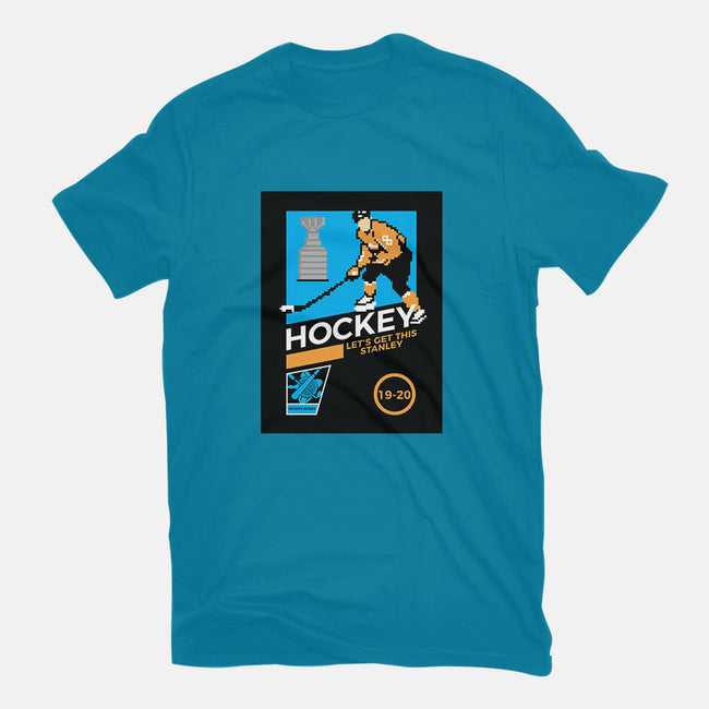 8Bit Hockey-womens fitted tee-christopher perkins