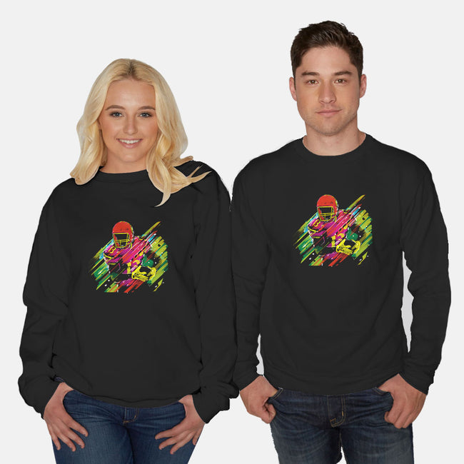 Race to the Touchdown-unisex crew neck sweatshirt-Frederic Levy-Hadida