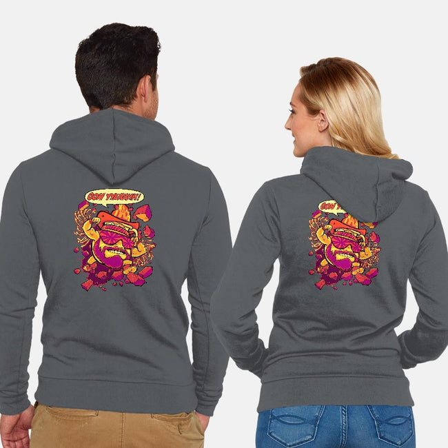 Macho-Kool-unisex zip-up sweatshirt-BeastPop