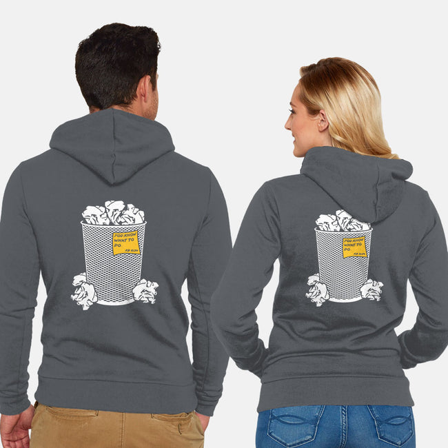 Trash Can Tradition-unisex zip-up sweatshirt-christopher perkins